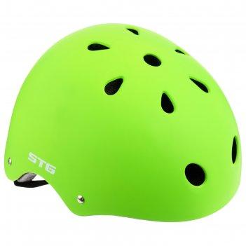 Шлем велосипедиста stg mtv12, размер m (55-58 см), цвет салатовый