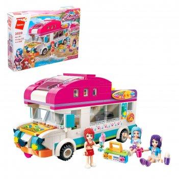 Конструктор девчонки фургон мороженое, 309 деталей