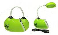 Лампа настольная сумочка led 13*6*13см, зеленая