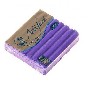 Пластика - полимерная глина 56г флуоресцентный фиолетовый