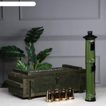 Набор для спиртного гранатомет муха, 6 предметов в наборе: ящик, штоф 0.7
