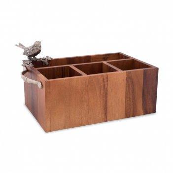 Подставка для столовых приборов «птичья трель», размер: 34 х 19 х 18 см, м