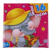Пазл-мозаика слоненок 16 элементов