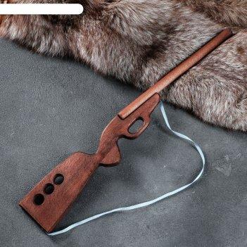 Сувенир деревянный ружьё охотничье, чёрное, 60 см, массив бука