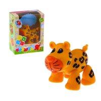 Забавное животное леопард с подвижными лапами, головой, хвостиком