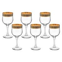 Набор фужеров для вина 240 мл black&gold, 6 шт