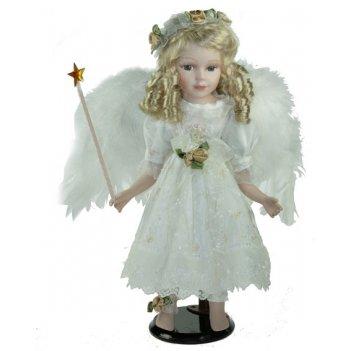 Кукла коллекционная ангел, фарфор 41см