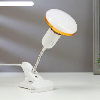 Лампа настольная светодиодная на прищепке 1х12вт е27 led 100лм шнур 1.1м ш