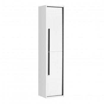 Шкаф-колонна aquaton «ривьера» универсальное, цвет белый матовый
