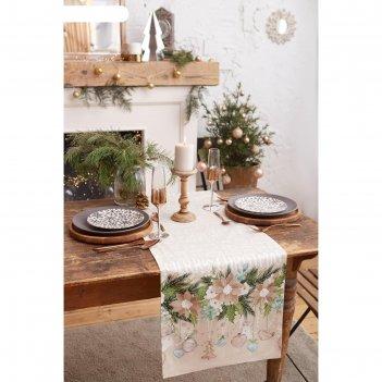 Дорожка на стол beautiful сhristmas 40*147 см, 100% хл, саржа 190гр/м2