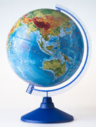 Глобус земли физический 250 серия евро