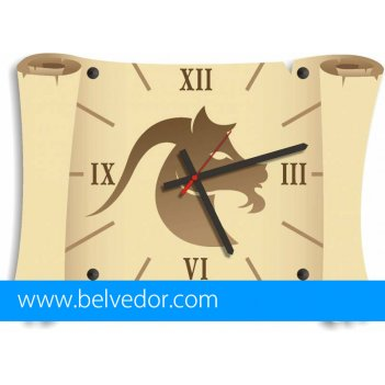 Часы настенные козерог 39х28 см