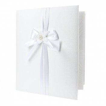 Альбом для фотографий (свадебный) белый танец (28*33*4,5см.) н