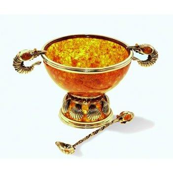 Салатница креветки (бронза)