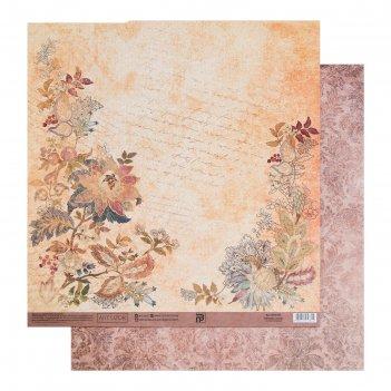 Бумага для скрапбукинга «винтаж», 30.5 x 32 см, 180 гм