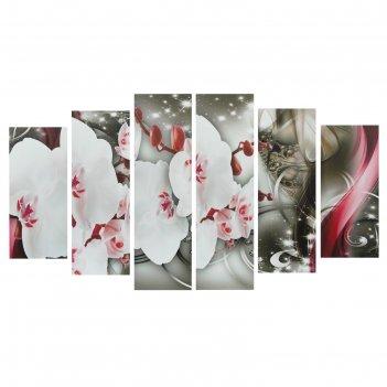 Модульная картина на подрамнике цветки орхидеи