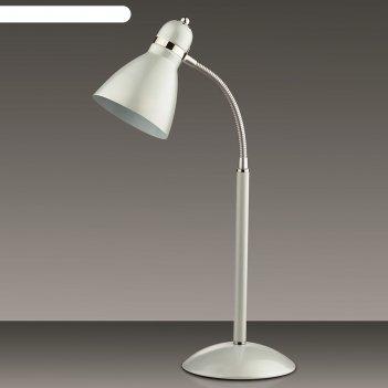 Настольная лампа mansy 60вт e27 белый
