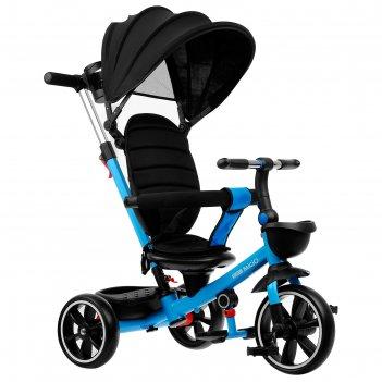 Велосипед трехколесный micio veloce +, колеса eva 10/8, цвет синий