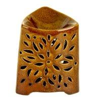 Ночник-арома настольный керамика от 220v цветок 14х12х12 см