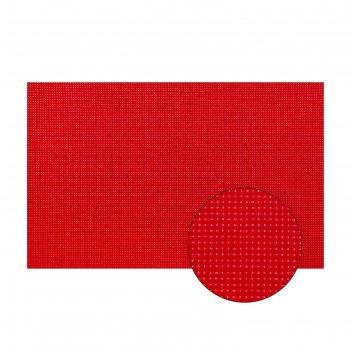 Канва для вышивания №11, 30 x 20см, цвет красный