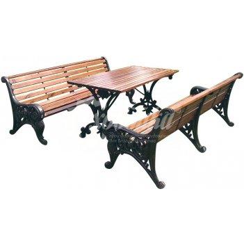 Комплект садовой мебели «поляна» 1,5 м