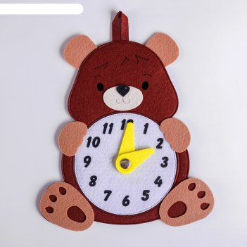 Развивающая игра часы.медведь,1601003