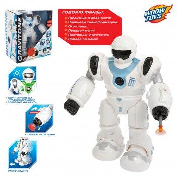 Робот «gravitone», световые и звуковые эффекты, работает от батареек, цвет