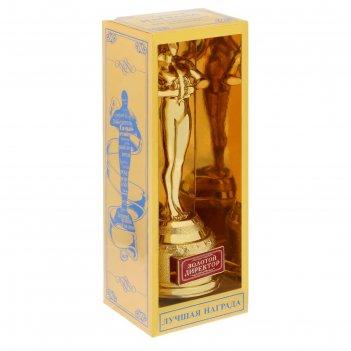 Мужская фигура золотой директор в коробке, 18,5 х 6,6 х 6,3 см