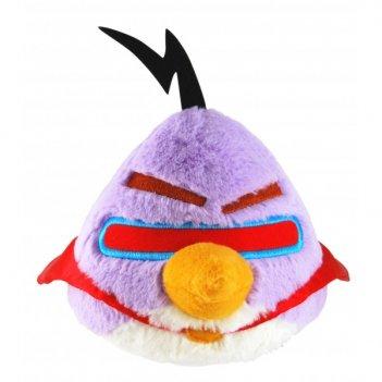 93024, angry birds space мягкая игрушка, со звуком, фиолетовая, 40 см
