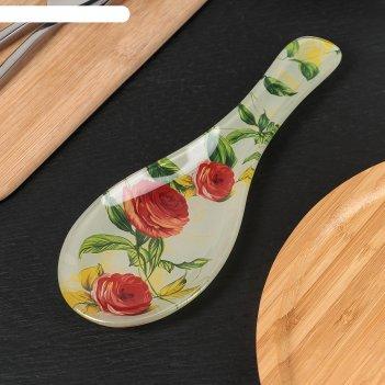 Подставка под ложку «чайная роза», 23х8 см