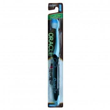 Зубная щетка ebisu с компактной чистящей головкой, прорезиненой ручкой и к