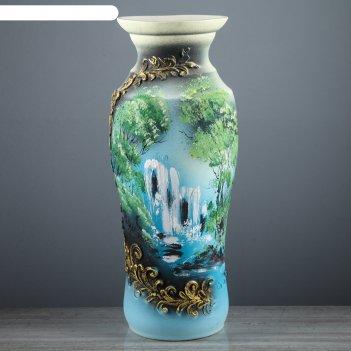 синие вазы