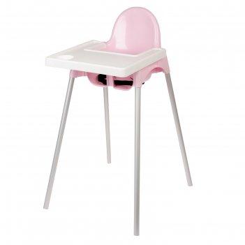 Стульчик для кормления пластиковый, цвет розовый