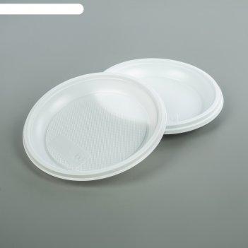 Набор тарелок десертных одноразовых d=17 см, цвет белый, 12 шт