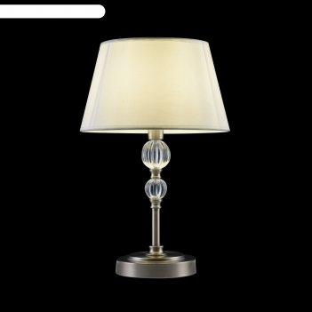 Настольная лампа milena 1x60вт e14 никель