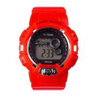 Часы наручные кретчер, электронные, с силиконовым ремешком, l=23 см, красн