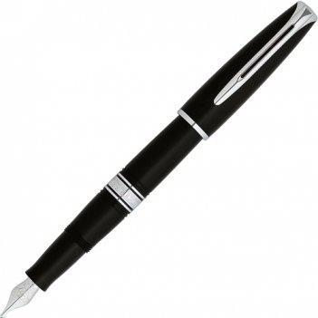 Перьевая ручка waterman charlestone ebony black  ct. перо из
