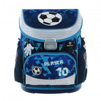 Ранец на замке belmil mini-fit 36*28*17 мал player, синий