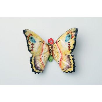 Панно настенное бабочка 14*15 см.