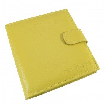 Визитница на кнопке, 2 ряд, 36 листов, цвет желтый (v-44-321)
