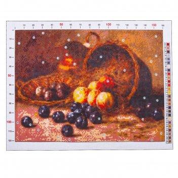 Канва для вышивания с рисунком «гирв альфред александрович. персики и слив