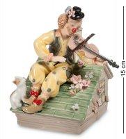 Cms-23/31 муз. фигурка клоун-скрипач на крыше (pavone)