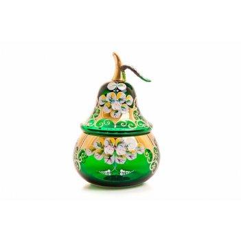 Ваза для конфет лепка зеленая груша