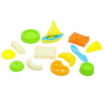 Песочный набор кондитерские изделия, 12 предметов