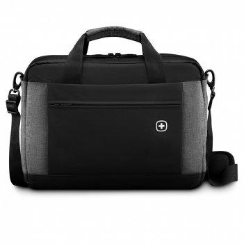 Портфель для ноутбука 16'' wenger, черный/серый, полиэстер, 43 x