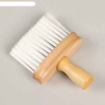 Щётка-сметка для удаления волос деревянная