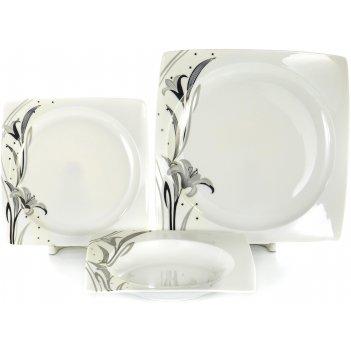 Набор столовый белый квадрат «лилия», 18 предметов