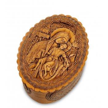 Bst-110/ 2 шкатулка пресвятая богородица  (береста)