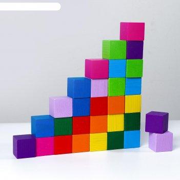 Кубики «цветные» 30 шт.