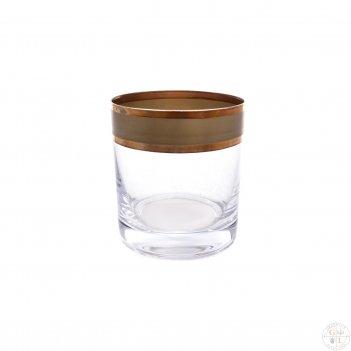 Набор стаканов для виски bohemia матовая полоса фон